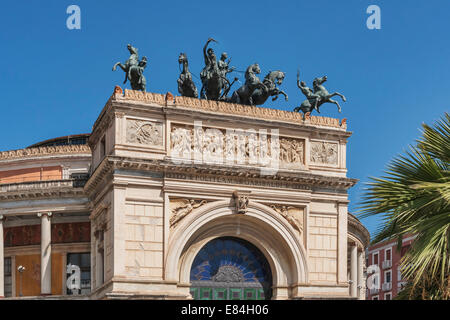 The Teatro Politeama Garibaldi is a theater building in Palermo, Sicily, Italy, Europe - Stock Photo
