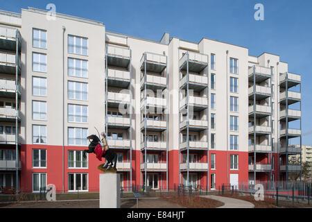 Berlin, Germany, new construction of rental housing in Berlin-Pankow - Stock Photo