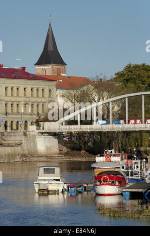 View To Old Town Of Tartu From River Emajõgi. Estonia Estland EU - Stock Photo