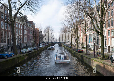Amsterdam, The Netherlands, look at the Leidsegracht - Stock Photo