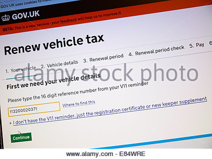 UK 30 September 2014 DVLA Servers Overload Preventing Tax Disk Renewal On The Evening Of