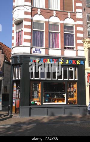 Jolly Joker Coffeeshop Nieuwmarkt Amsterdam Holland - Stock Photo