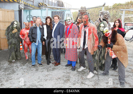 Rust, Germany - September 25, 2014: Halloween and Spook Me Musical at Europapark with DJ Bobo, Michael Mack and - Stock Photo