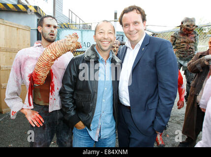 Rust, Germany - September 25, 2014: Halloween and Spook Me Musical at Europapark with DJ Bobo and Michael Mack - Stock Photo