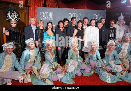Rust, Germany - September 25, 2014: Halloween and Spook Me Musical at Europapark with Thomas Mack and his wife Ekaterina - Stock Photo