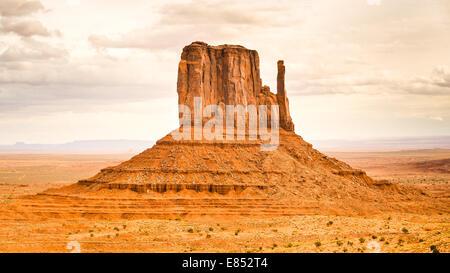 MItten Butte, Monument Valley, Navajo Tribal Park, Arizona - Stock Photo