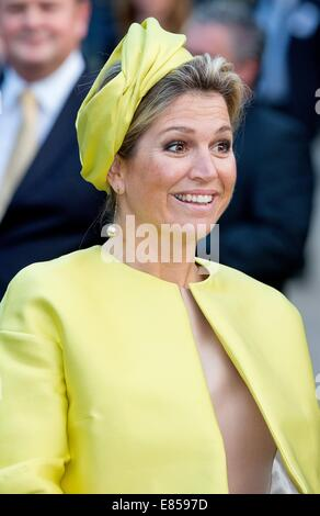 Amsterdam, The Netherlands. 30th Sep, 2014. Queen Maxima of the Netherlands opens the museum Micropia in Amsterdam, - Stock Photo