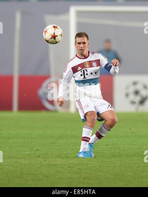 Moscow, Russia. 30th Sep, 2014. Munich's Philipp Lahm in action during the UEFA Champions League group E soccer - Stock Photo