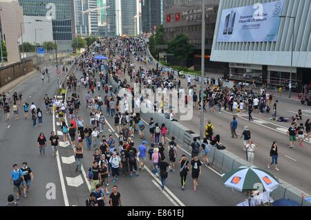 Hong Kong. 1st October, 2014. On Wednesday 1st October 2014, during a public holiday to mark the 65th anniversary - Stock Photo