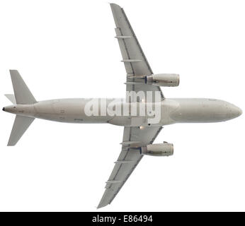 The Passenger airplane isolated on the white background - Stock Photo