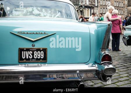 57 Chevrolet Wedding Car Edinburgh Old Town