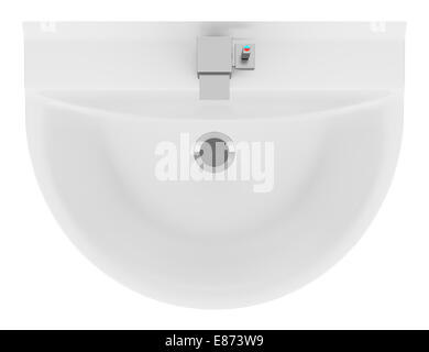 top view of ceramic bathroom sink isolated Stock Photo, Royalty ...