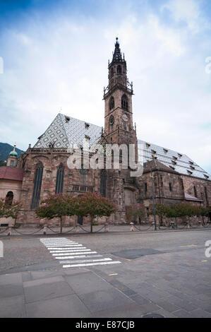 Italy, South Tyrol, Bolzano, Bozen, S. Maria Assunta Cathedral - Stock Photo