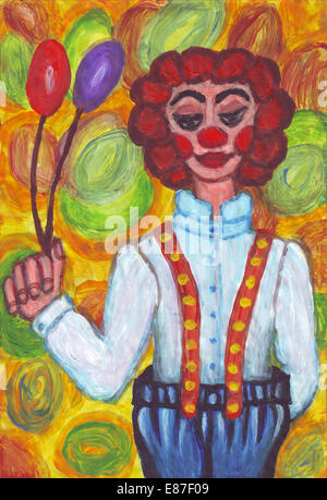 Clown with big pants - Stock Photo