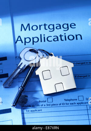 Mortgage Application to go - Stock Photo