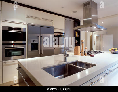 Kitchen Island Extractor Fans extractor above double oven in fitted wood units in modern kitchen