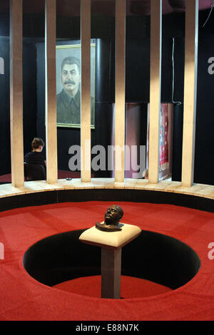 Stalin's death mask, on display in the Stalin Museum in Gori, Georgia, on Saturday 13 September 2014. - Stock Photo