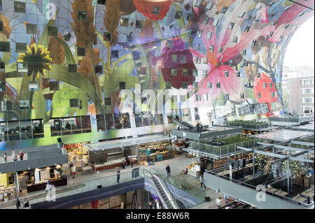 Sept. 30, 2014 - Rotterdam, South Holland, The Netherlands, Holland - The Markthal in the city Rotterdam...Indoor - Stock Photo