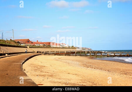 A view of the beach on the North Norfolk coast at Bacton on Sea, Norfolk, England, United Kingdom. - Stock Photo