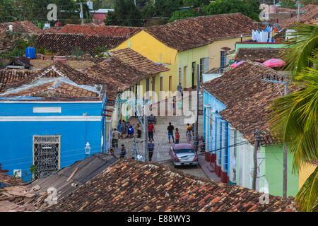 View of Trinidad, Sancti Spiritus Province, Cuba, West Indies, Caribbean, Central America - Stock Photo