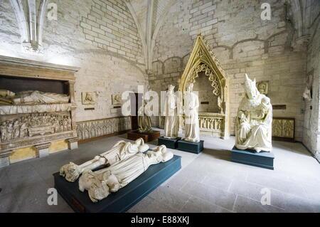 Statues, Sacristy, Palais des Papes, Avignon, France, Europe - Stock Photo