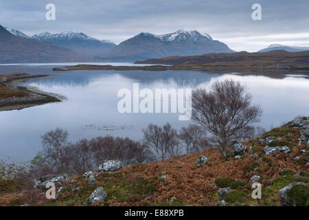 A view of Upper Loch Torridon, Highlands, Scotland, United Kingdom, Europe - Stock Photo