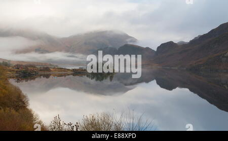 A view of Loch Long, Kintail, Highlands, Scotland, United Kingdom, Europe - Stock Photo