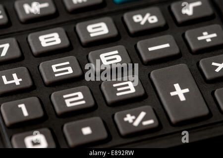 Keys of an electronic calculator Stock Photo