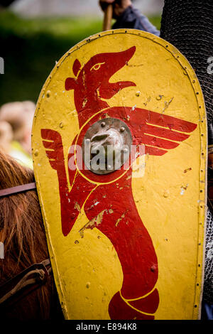 Battle, East Sussex, UK. 2nd October, 2014. Norman Cavalry scouts arrived at Battle Abbey today after a two day - Stock Photo