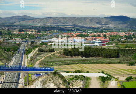 Spring view of the Spanish region Aragon - Stock Photo