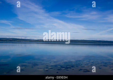 A sea scape looking onto mainland Scotland from the Isle of Skye - Stock Photo