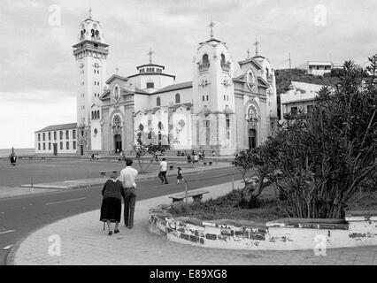 Eighties, Spain, Canary Islands, Canaries, Tenerife, E-Candelaria, pilgrimage site, Basilica of Candelaria, pilgrimage - Stock Photo