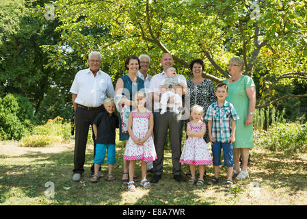 Family portrait of multi-generation family - Stock Photo