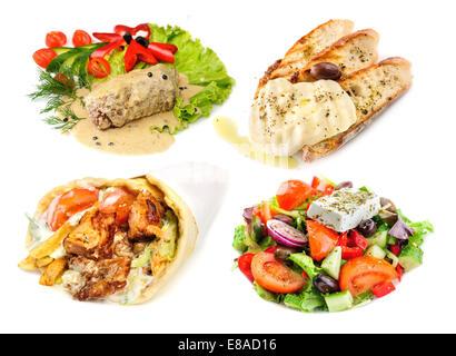 Greek and mediterranean fast street food - Stock Photo