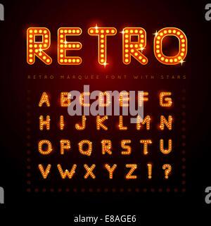 Retro font - Stock Photo