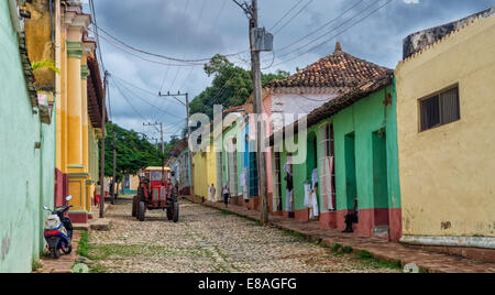 View of Trinidad street in Cuba, one of UNESCOs World Heritage sites - Stock Photo