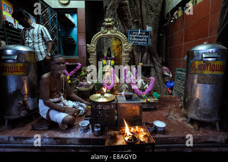 Shrine in the street of Madurai,Tamil Nadu,India - Stock Photo