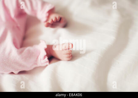 Baby girl's legs - Stock Photo