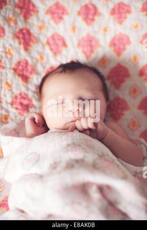 Baby girl sleeping - Stock Photo