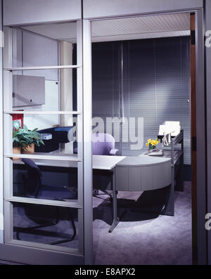 Inside an eighties office - Stock Photo