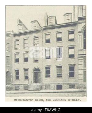 (King1893NYC) pg564 MERCHANTS' CLUB, 108 LEONARD STREET - Stock Photo
