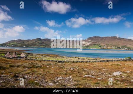 Glassillaun, Mayo, Ireland, 26th September 2014, Achill Island lifeboat station as seen from Glassillaun - Stock Photo