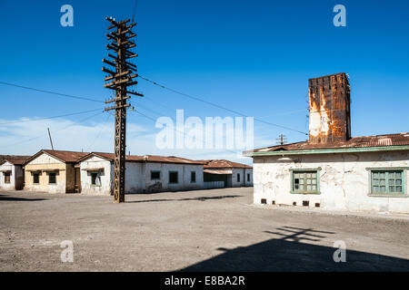 Abandoned Town Humberstone, Iquique Province, Chile. - Stock Photo