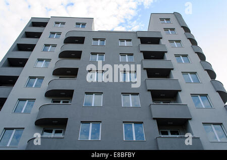 Exterior of residential building sunrise view - Stock Photo