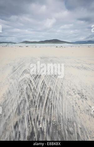 Sand patterns on Luskentyre Beach, Isle of Harris, Outer Hebrides, Scotland - Stock Photo