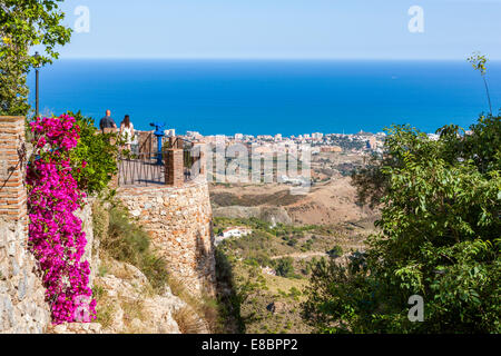 View from Mijas, Malaga Province, Andalusia, Spain, Europe. - Stock Photo