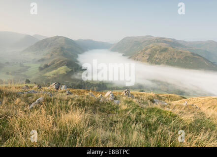 Hanging cloud over Boredale valley in the English Lake District, taken from Hallin Fell