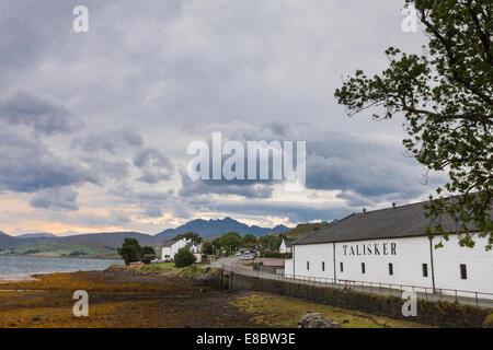 Talisker Distillery at Carbost on the Isle of Skye in Scotland.