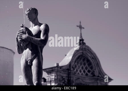 Detail of Duomo Square in L'aquila - Stock Photo