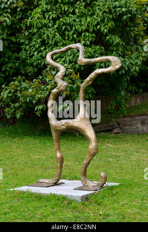 Stickman, Akershus Fortress Sculpture Trail, Oslo, Norway 140819_62417 - Stock Photo